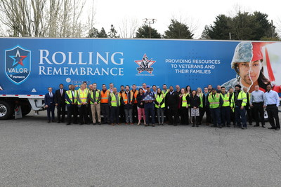 PepsiCo and Children of Fallen Patriots team members kick-off Rolling Remembrance in Seattle, April 19