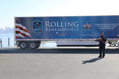 Mike Bedell, PepsiCo driver for first leg of Rolling Remembrance relay route, kicking-off relay in Seattle, April 19