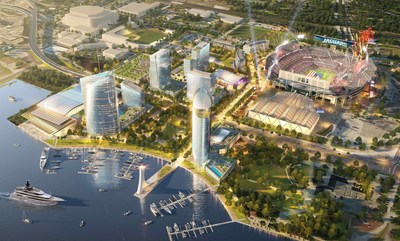 The development will create a vibrant, mixed-use neighborhood dedicated to bringing first-class amenities and experiences together 365 days a year just feet away from EverBank Field, Daily's Place, Veterans Memorial Arena and the Baseball Grounds of Jacksonville.