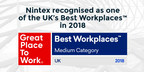Nintex Recognised as one of the UK's Best Workplaces™ in 2018