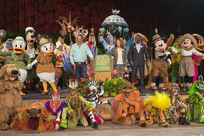 A special celebration commemorated the day with Disney characters entertainers and executives. Over the years the them
