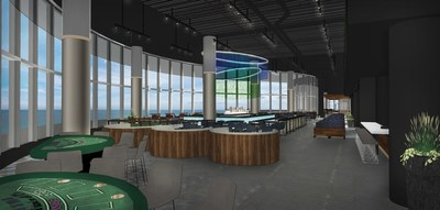 Views of the Atlantic Ocean will be enjoyed from the new Topgolf Swing Suite at Ocean Resort Casino