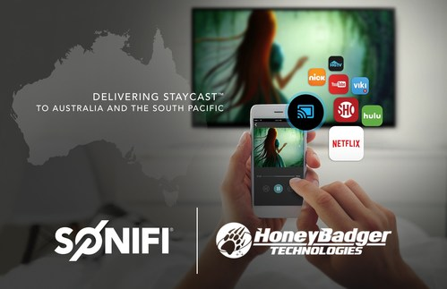 STAYCAST™ Powered by Google Chromecast Set to Dominate Australian Guest Streaming Market with SONIFI Solutions - HoneyBadger Technologies Partnership
