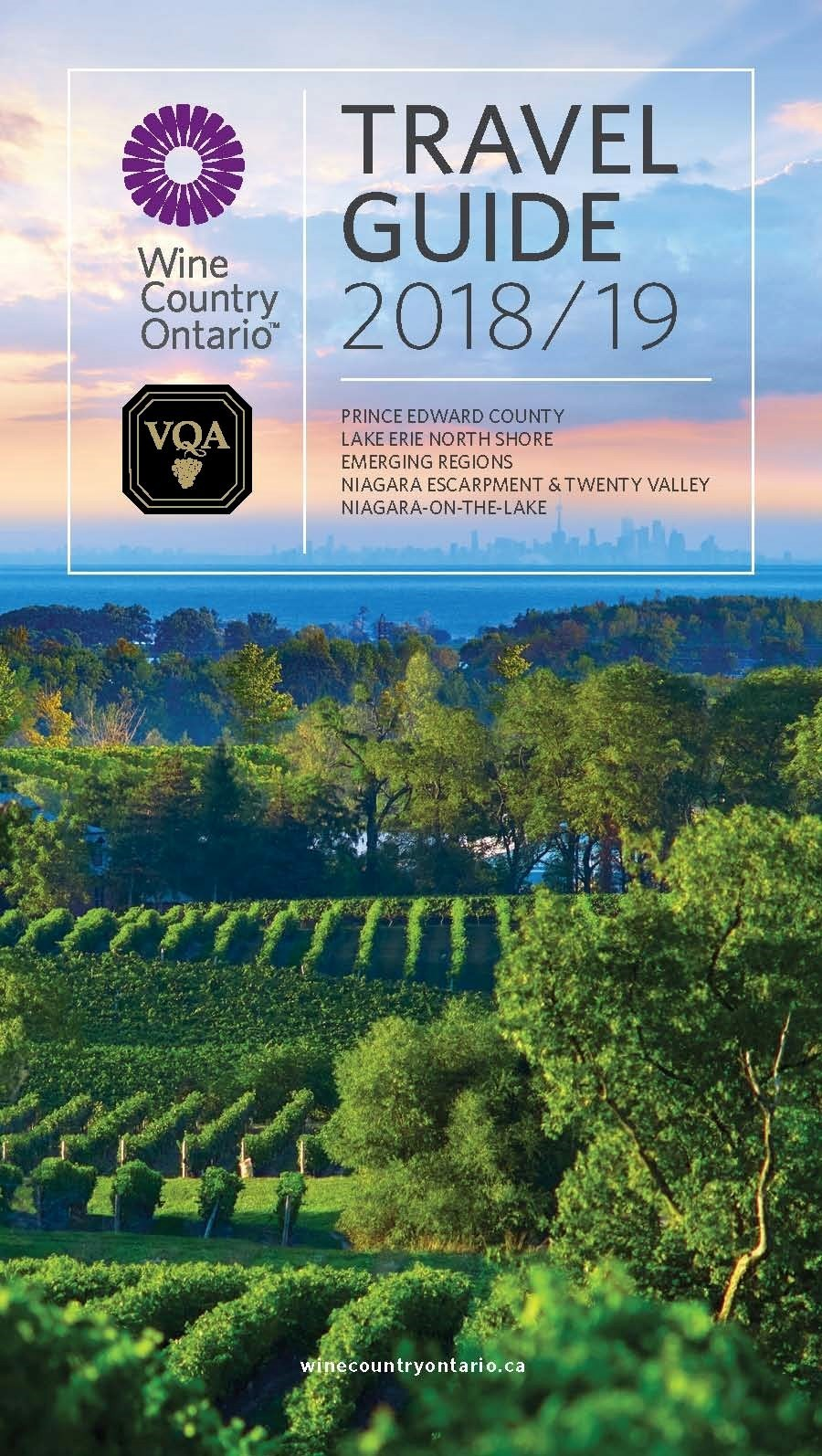 2018/19 Wine Country Ontario and VQA Wines of Ontario Travel Guide Cover (CNW Group/Wine Marketing Association of Ontario)