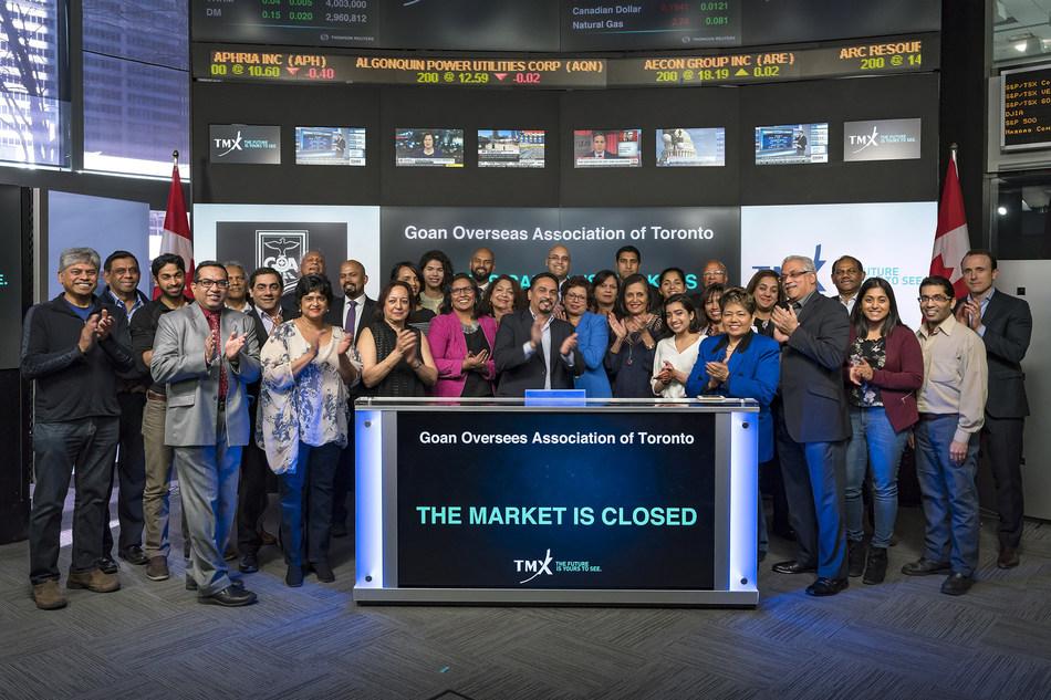 Goan Overseas Association of Toronto Closes the Market (CNW Group/TMX Group Limited)