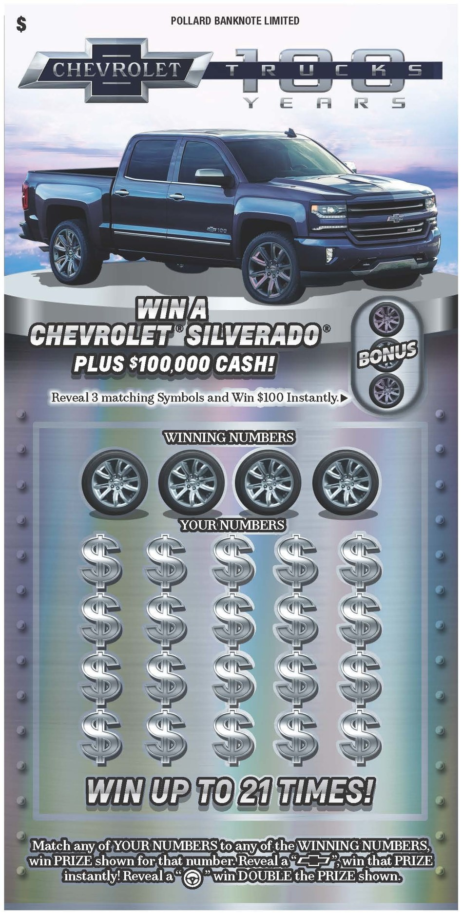 Chevrolet Silverado offered by Pollard Banknote (CNW Group/Pollard Banknote Limited)