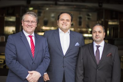 From left to right: David Walsh (CEO, Netwatch Group), Samir Samhouri (Chairman of the Board, Netwatch Group), Woodie Andrawos (Managing Director and President, NMC)