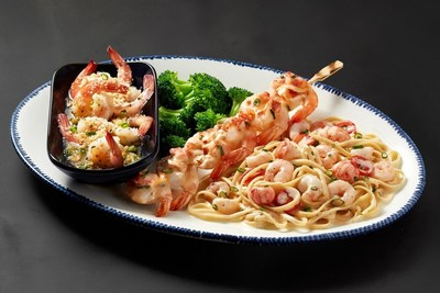 Red Lobster® guests are invited to explore exciting new flavors and preparations of shrimp during the Create Your Own Shrimp Trios event, like the NEW! Shrimp & Lobster Pasta, NEW! Crab-Topped Shrimp Skewer, and NEW! Parmesan Truffle Shrimp Scampi.