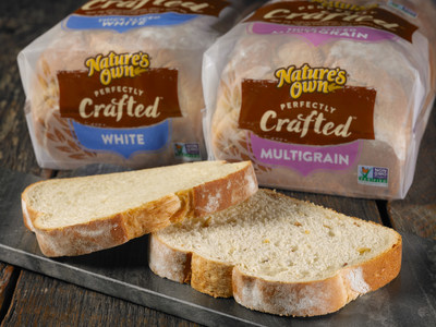 Nature's Own, the number one selling bread brand in America, has announced two new offerings: Nature's Own Perfectly Crafted Thick Sliced Multigrain and Nature's Own Perfectly Crafted Thick Sliced White. Available nationwide, the artisan-inspired, thick-sliced bakery style breads contain no artificial preservatives, color or flavors, no high fructose corn syrup, and are Non-GMO Project Verified.