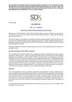 """SDX ENERGY INC. (""""SDX"""" or the """"Company"""") - Oil discovery at Rabul 4 Well, West Gharib Concession, Egypt (CNW Group/SDX Energy Inc.)"""