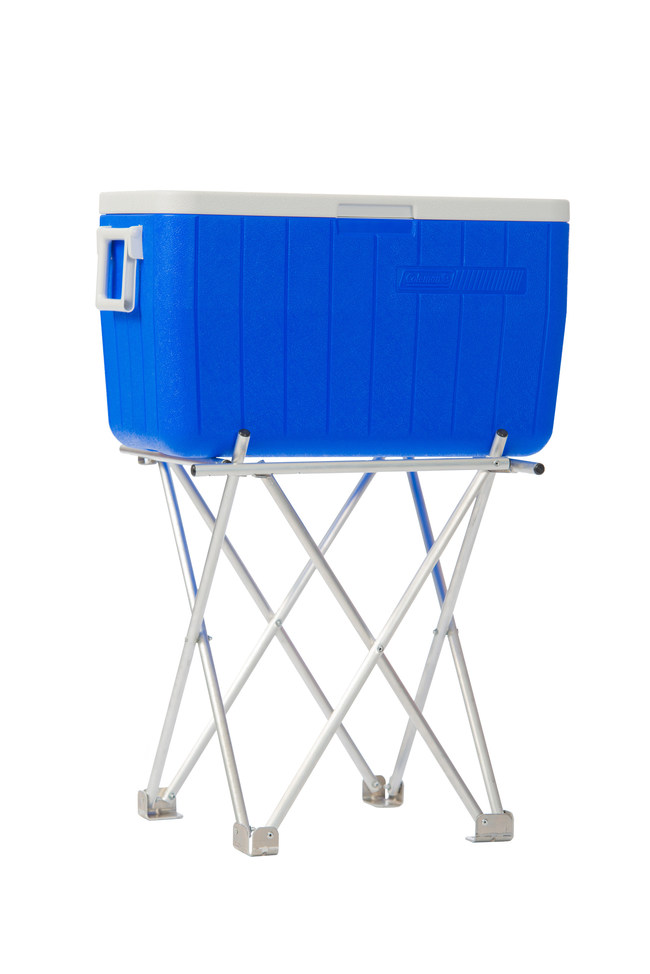 The adjustable, collapsible, industrial strength Next-Gen cooler Stand. Making it easy for travel, storage, lightweight and perfect fit for many different size coolers. http://www.ben-no-mo.com