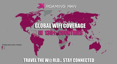 ROAMING MAN, World's Number One Global WiFi Hotspot Service Provider Announces Coverage to over 130 Countries and Regions