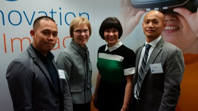 Joshua Moralejo, Patient Care Manager, Toronto Grace; Mary Ellen Eberlin, President & CEO, Toronto Grace; Federal Minister of Health, the Hon. Ginette Petitpas Taylor; and Jake Tran, Executive Director Programs, Toronto Grace. (CNW Group/The Salvation Army)