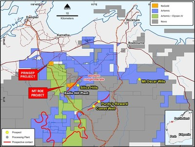 Figure 1: Mt. Roe Project Location Map (CNW Group/NxGold Ltd.)