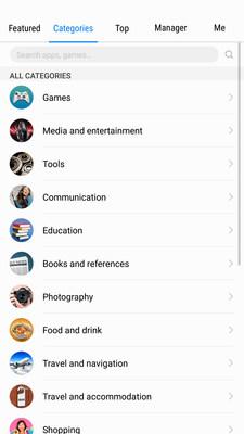 Sección de categorías (PRNewsfoto/Huawei)