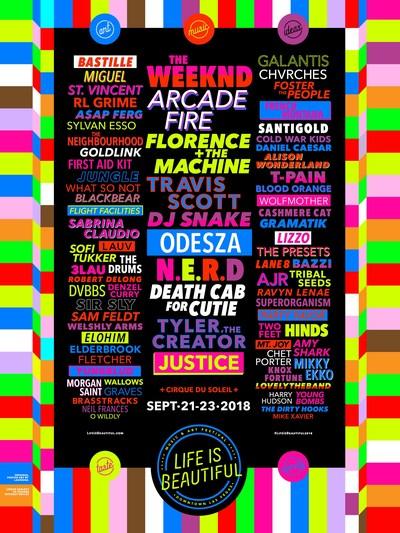 Life is Beautiful Music & Art Festival unveils its 2018 music lineup! #LifeisBeautiful2018 (PRNewsfoto/Life is Beautiful)