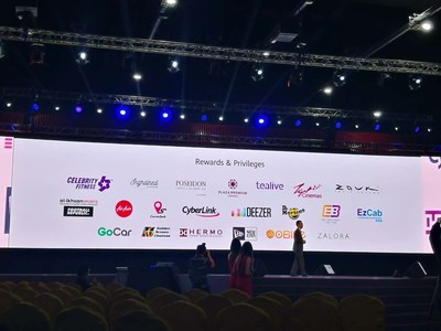 Mostra de Recompensas e Privilégios na Conferência HUAWEI P20 (PRNewsfoto/Huawei) (PRNewsfoto/Huawei)