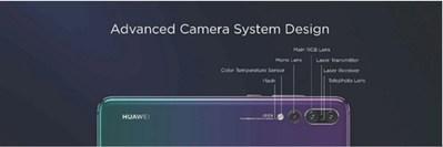 Diseño de sistema de cámara avanzado (PRNewsfoto/Huawei)