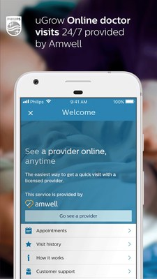 Philips Avent uGrow App Gives Parents Peace-of-Mind with Immediate Video Access to Healthcare Providers