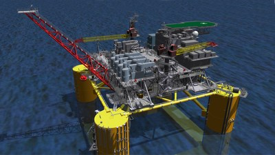 Shell rendering of its Vito deep-water development in the U.S. Gulf of Mexico. Vito will feature a new, simplified host design and associated infrastructure.