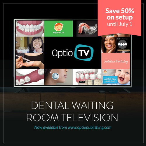 Optio TV Launch of dental waiting room television