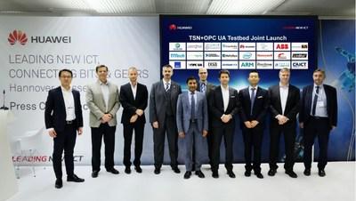 AII, Avnu Alliance, ECC, Fraunhofer FOKUS, Huawei, Schneider Electric und zahlreiche weitere Stakeholder kündigen gemeinsam das TSN + OPC UA Testbed für Smart Manufacturing an (PRNewsfoto/Huawei)