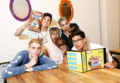 "On April 19, 2018, Simon Cowell-backed boy band, PRETTYMUCH dropped their new song ""Hello"" in the sweetest way possible by pressing it on the first-ever cereal record made with new Kellogg's® Chocolate Frosted Flakes™."
