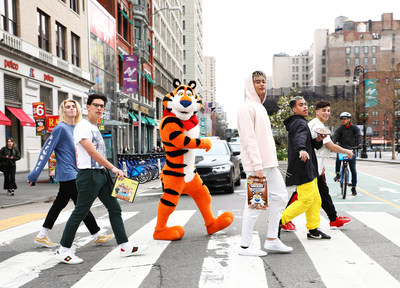 """On April 19, 2018, Simon Cowell-backed boy band, PRETTYMUCH dropped their new song """"Hello"""" in the sweetest way possible by pressing it on the first-ever cereal record made with new Kellogg's® Chocolate Frosted Flakes™."""