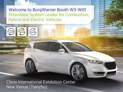 To support the auto industry's transition to cleaner and more efficient vehicles, BorgWarner will present its broad portfolio of advanced technologies and solutions for combustion, hybrid and electric vehicles at Auto China 2018.