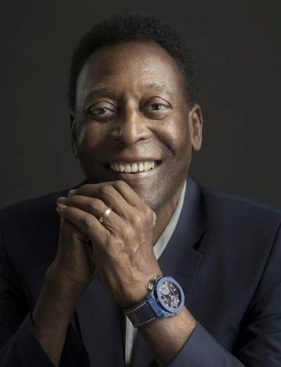 Hublot Ambassador Pelé wearing the Classic Fusion Chronograph UEFA Champions League (PRNewsfoto/Hublot)