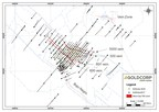 Figure 1:  Plan map illustrating the Silica Cap complex 600, 601, 500 and 5000 veins. (CNW Group/Goldcorp Inc.)