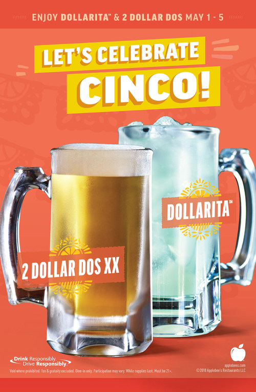 Applebee's® to Celebrate Cinco de Mayo with Two Neighborhood Drinks – the DOLLARITA™  and the New 2 DOLLAR DOS