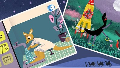 An App where Arabic letters talk and launch rockets to the moon, and a kangaroo teaches how to pray and perform ablution.