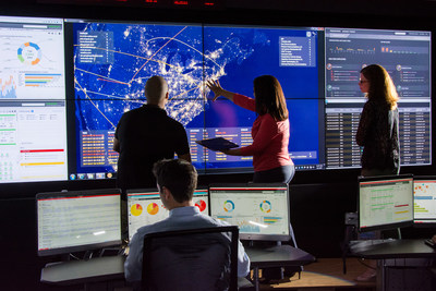 Pictured here is Raytheon's Cybersecurity Operations Center near Washington, DC, where the cyber threat is tracked in real time.