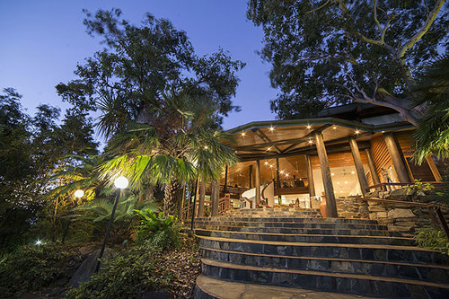 The open plan tropical design of Thala Beach Nature Reserve's buildings allow it to blend with the local environment.