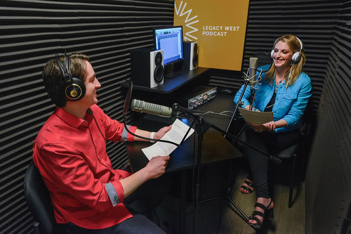 Legacy West Podcast hosts Gabriel Roxas and Victoria Snee. Photo courtesy Karen Almond.