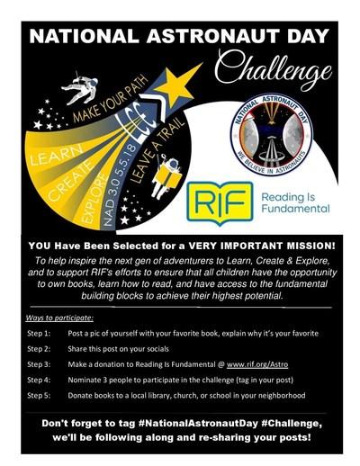 2018 National Astronaut Day Challenge