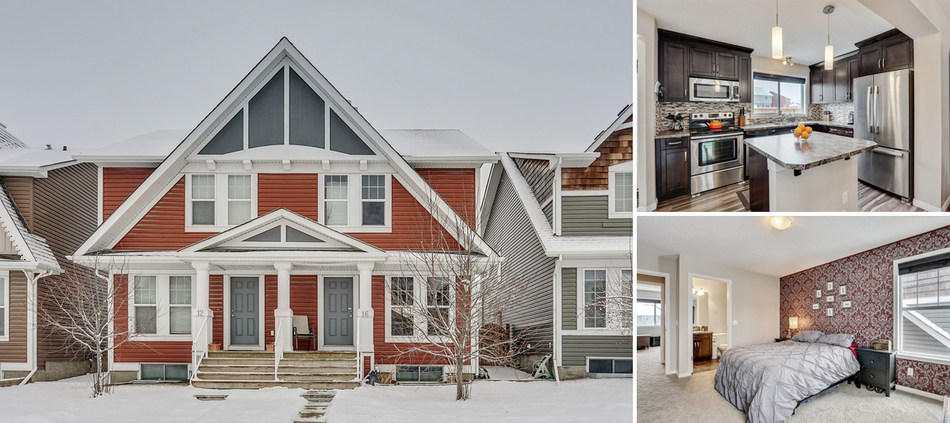 16 Auburn Crest Lane SE, Calgary, AB | $410,000 | Listing Agent: Laura Kitchen, Royal LePage Solutions | Bedrooms: 2, Bathrooms: 2+1, Living Area: 1,095 sq. ft. (CNW Group/Royal LePage Real Estate Services)