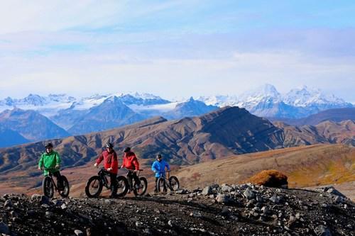 Heli-biking in Alaska at Tordrillo Mountain Lodge.