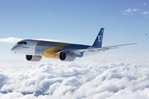 First Flight of Embraer E190-E2