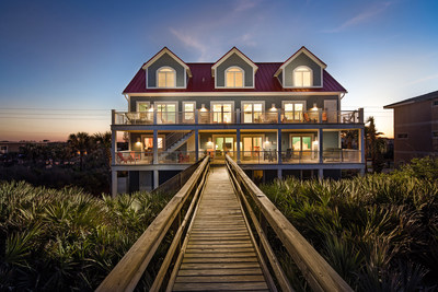 The home's private boardwalk leads directly to the sands of Flagler Beach. More at OceanfrontLuxuryAuction.com.