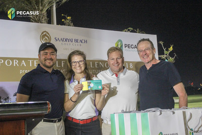 The tournament's 1st placer accepts winning vouchers from both Saadiyat and Pegasus Food Futures (PRNewsfoto/Pegasus Food Futures)
