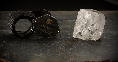 327 carat, top white gem diamond from Lucara Diamond Corp's Karowe Diamond Mine in Botswana, April 2018 (CNW Group/Lucara Diamond Corp.)