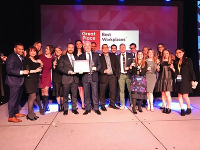 Corby Spirit and Wine named one of Canada's 50 Best Workplaces for the 7th consecutive year. (CNW Group/Corby Spirit and Wine Communications)