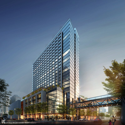 The 519-room JW Marriott hotel that will open in 2020 will mark the luxury brand's debut in the Tampa Bay region. The hotel also represents the first of 10 buildings that SPP, the developer behind the Water Street Tampa neighborhood, plans to begin building over the next year.