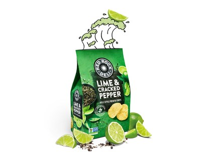 Red Rock Deli Lime & Cracked Pepper Deli Style Potato Chips