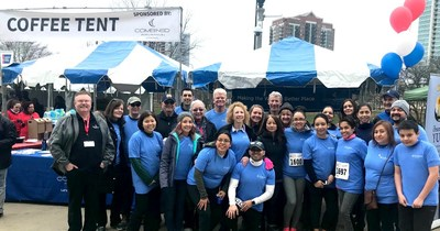 Combined Insurance employees participate at the American Cancer Society's Walk and Roll.