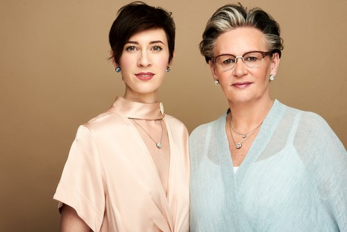 Alexandra Mayr-Gracik (left) succeeds her mother, Karin Mayr, as President and CEO of Sabika Jewelry. Mrs. Mayr is Founder and Chairwoman of the Board. She will focus her time as Special Advisor to Sabika's Consultants across the United States.