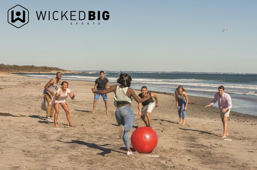Wicked Big Sports Kickball brings any backyard or street game of kickball to the next level with a 25-inch kickball that is over three times the size of a traditional kickball!