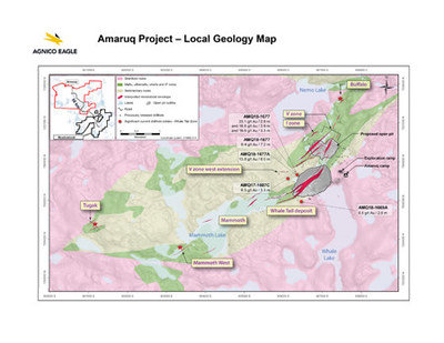 Amaruq Project - Local Geology Map (CNW Group/Agnico Eagle Mines Limited)